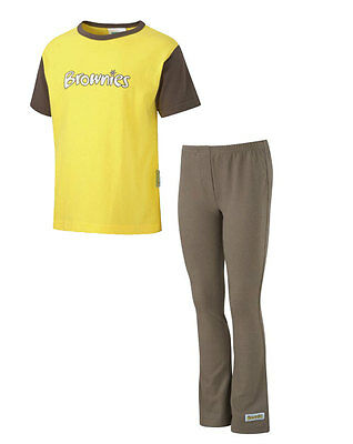 Kids Brownie Pack 2 Official Short Sleeve T-Shirt and Leggings - All Sizes - New ()
