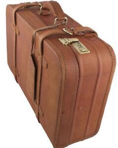 Leather Suitcase | eBay