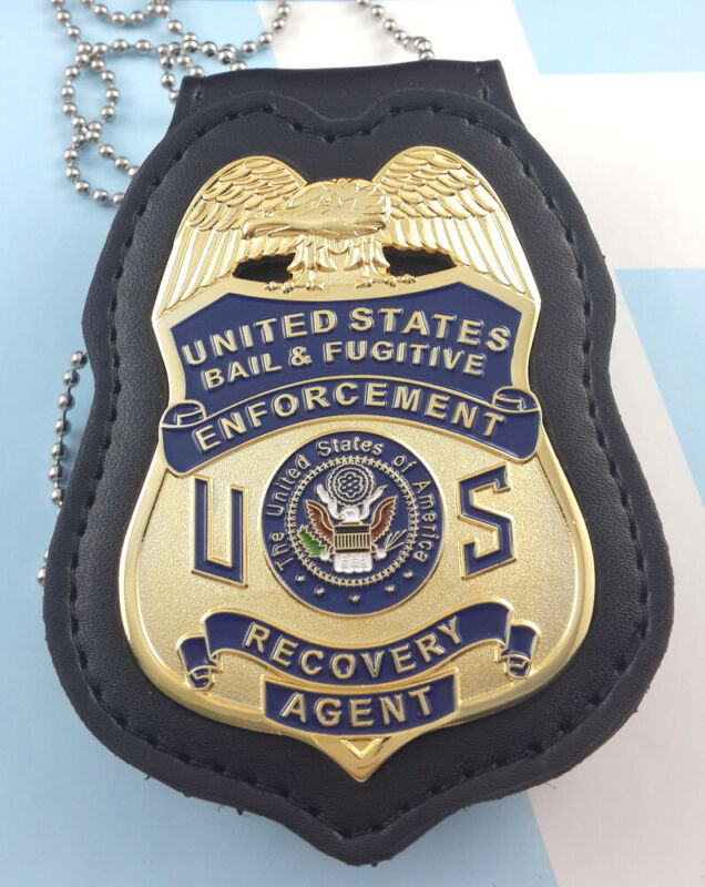 Bail Fugitive Recovery Agent Metal Badge B