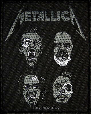 "METALLICA PATCH / AUFNÄHER # 52 ""BLACK ALBUM SKULLS"""