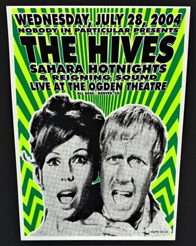 The Hives POSTER Sahara Hotnights & Reigning Sound Signed by Lindsey Kuhn 04-22