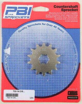 PBI - 732-14 - Front Countershaft Sprocket, 14T - Made In