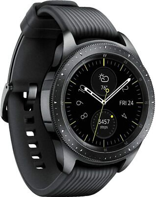 New Samsung Galaxy Watch 42mm RM-810 Stainless Steel Case Midnight Black Watch