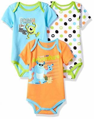 Disney Baby Boys Monsters Inc Three-Pack Bodysuits Size 12M 18M 24M