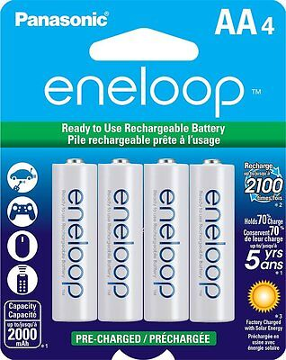 Panasonic NEW eneloop 4 Pack AA 2000mAh Ni-MH Pre-Charged Rechargeable Batteries for sale  Shipping to India
