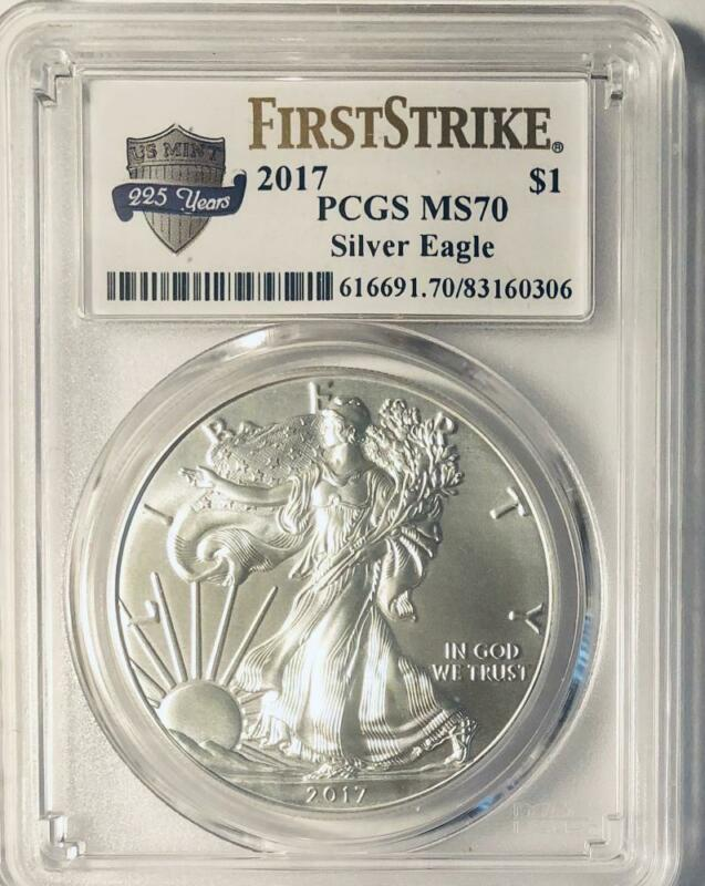 2017  American Silver Eagle - PCGS MS-70 -  Mint State 70 - First Strike