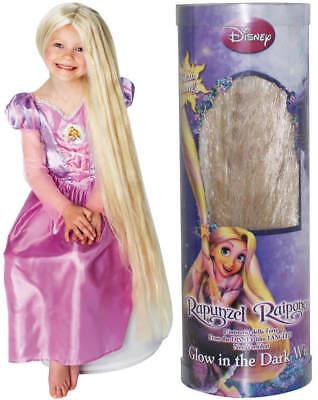Perücke Rapunzel blond leuchtet in der Nacht Disney