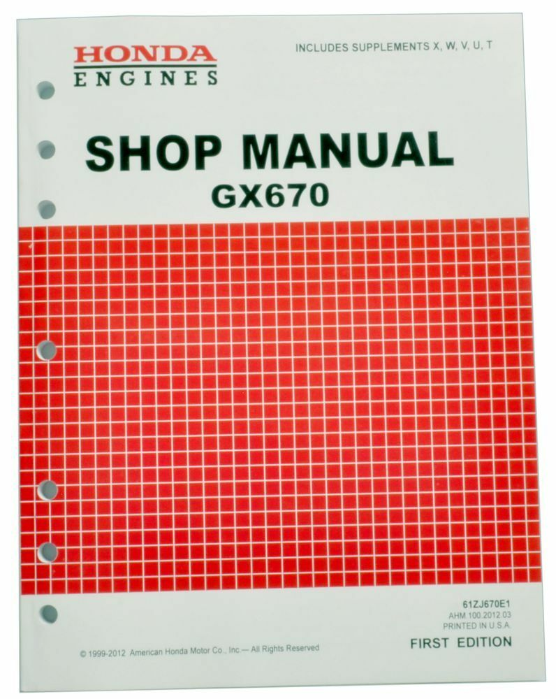 Honda Gx670 670 Engine Service Repair Shop Manual On Popscreen Wiring Diagram