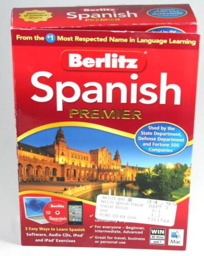 Berlitz Spanish Premier, WIN and Mac software. Never used