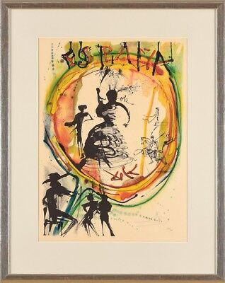 SALVADOR DALI Original Farblithographie, handsigniert Espana