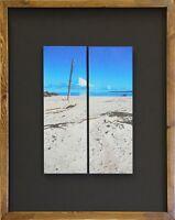 Patricia Beach 2 Panel Giclée Fine Art Print Handcrafted Frame