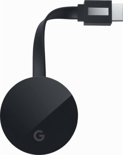 Google Chromecast Ultra Media Streamer - Black
