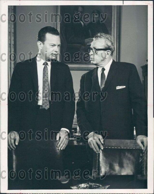 1965 Wire Photo NBC Newscaster David Brinkley IL Senator Everett Dirksen