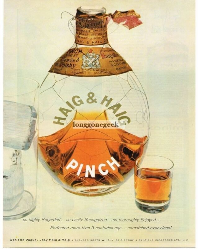1957 HAIG & Haig Pinch Scotch Whiskey Vintage Ad