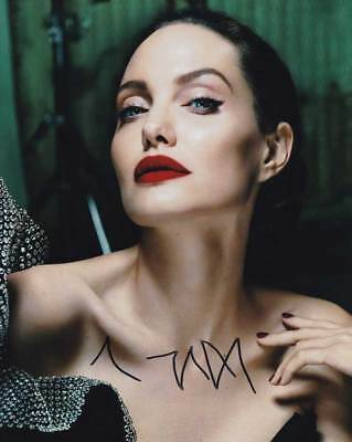Angelina Jolie In Person Authentic Autographed Photo Coa Sha  11486