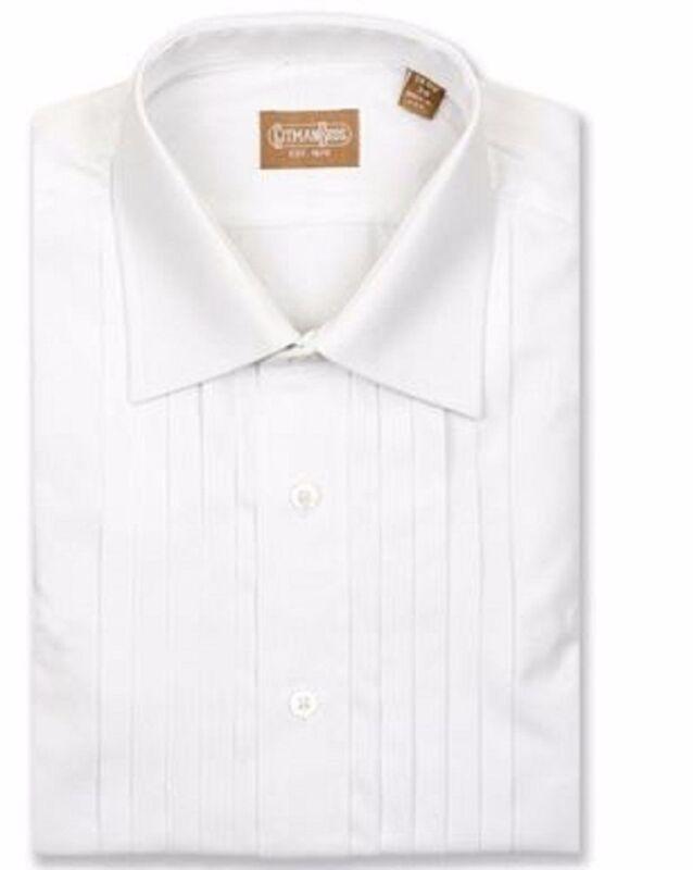 Gitman Spread Collar Five Pleat Tuxedo Shirt French Cuff