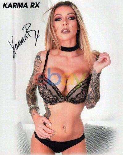 Karma RX Porn Star Autographed Signed 8x10 Photo REPRINT