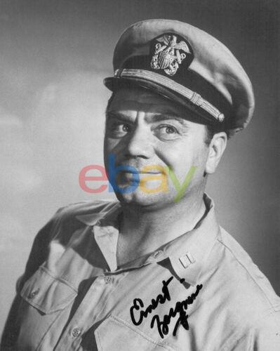 Ernest Borgnine Signed Autographed 8x10 Photo reprint