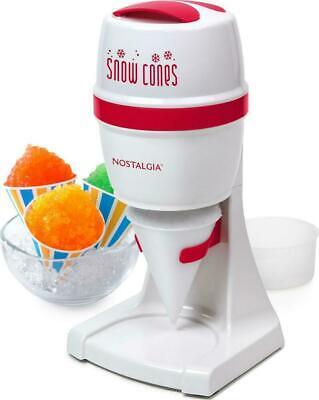 Snow Cone Maker Machine Countertop Electric Slushy Ice Crusher Shaver Red