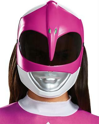 ADULT PINK POWER RANGER CLASSIC VACUFORM FACE MASK COSTUME DG79721