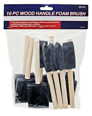 10 Pc Foam Paint Brush 4 Sizes 1