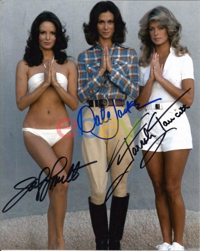 Charlies Angels Cast Signed 8x10 Autographed Photo Reprint Farrah Fawcett
