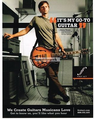 2005 FIRST ACT Electric Guitars JIMMY MESSER Vintage Ad