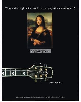 2005 HAMER Electric Guitar MONA LISA Vtg Print Ad