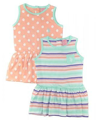 US Polo Assn Toddler/Little Girls' 2Pack Dress Set Size 2T 3T 4T 4 5 6 6X](Size 2t 3t)