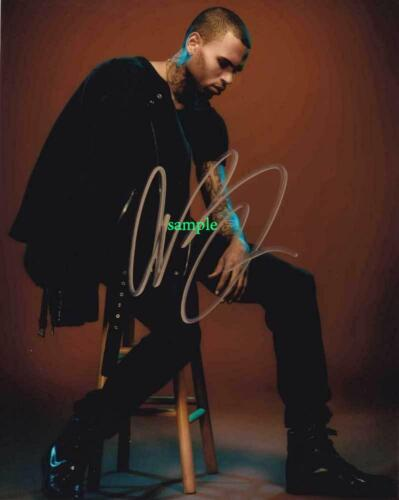 CHRIS BROWN #1 REPRINT SIGNED 8X10 PHOTO AUTOGRAPHED CHRISTMAS MAN CAVE GIFT