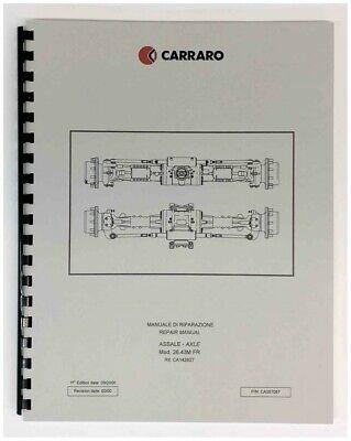 Carraro Model 26.43m 10k Rear Axle Repair Manual Pettibone Forklift