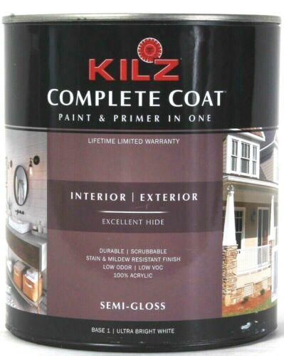 Kilz 31.5oz Complete Coat M691 Semi Gloss Base 1 Ultra Bright White Paint Primer