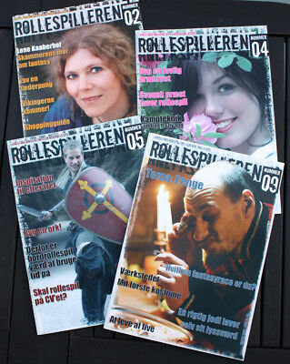 4 x ROLLESPILLEREN #02 #04 #05 #09 - Landsforeningen for levende rollespil - NEW