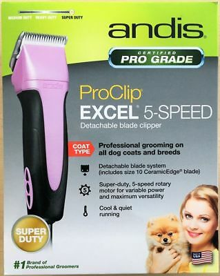 New Andis Easyclip Pro Animal 5 Speed Detachable Blade Clipper Kit Pet Grooming