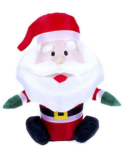 INFLATABLE BLOW UP SANTA FATHER CHRISTMAS DECORATION FOR INDOOR & OUTDOOR USE