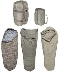 Sleep System US Army ACU IMSS 5 Piece Military Sleeping Bag USGI ECW  Used gd