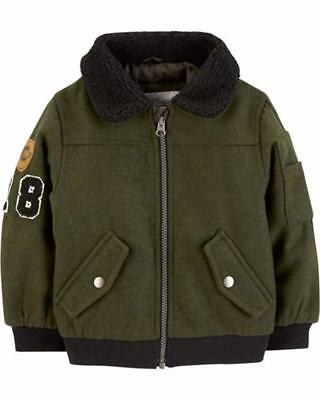 Osh Kosh B/'gosh Boys Gray Striped Windbreaker Jacket  Size 2T 3T 4T 4 5//6 7