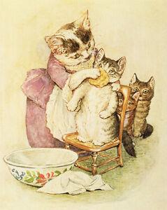 Tale of Tom Kitten  by Beatrix Potter   Paper Print Repro