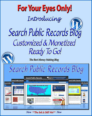 Search Public Records Blog Self Updating Website  Clickbank Amazon Adsense Pages