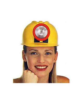 Minor Hard Hat With Real Working Light Yellow Construction Hat