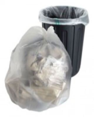 20 Clear Refuse Sacks Bags Size 18x29x39