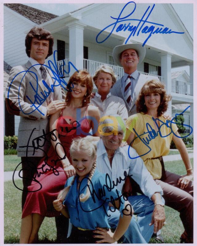 Dallas TV Show Cast Signed 8x10 Autographed Photo reprint