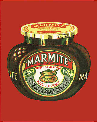 Marmite Red VINTAGE ENAMEL METAL TIN SIGN WALL PLAQUE