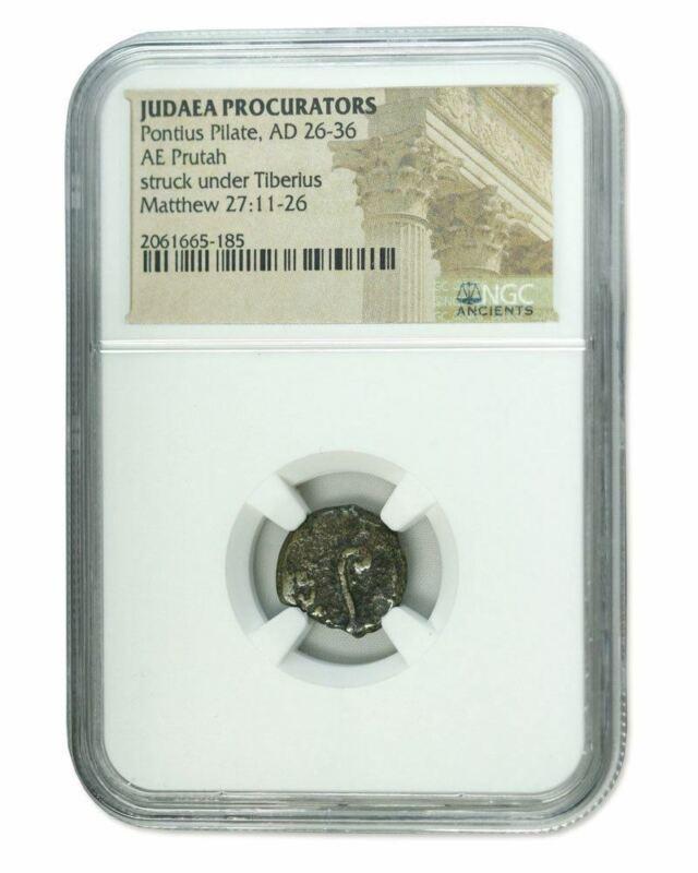 Judaea AE Pontius Pilate (AD 26-36) Prutah NGC (Low grade)