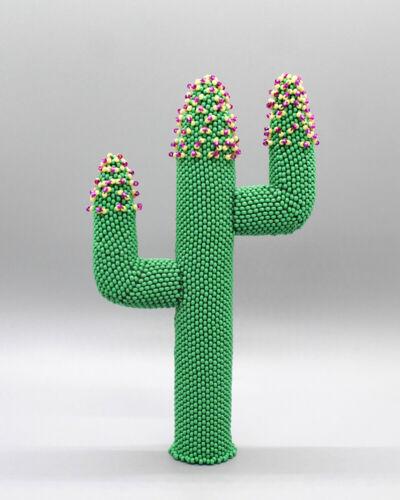 Zuni-Beaded Cactus In Bloom-Farlan & Alesia Quetawki-Native American BeadworK