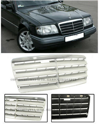 For 94-95 MB W124 E-Class Front Bumper Insert Upper Radiator Sport GREY Grille