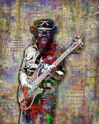 Lemmy Kilmister of MOTORHEAD 8x10in Poster, Motorhead Tribute Art Free Shipping