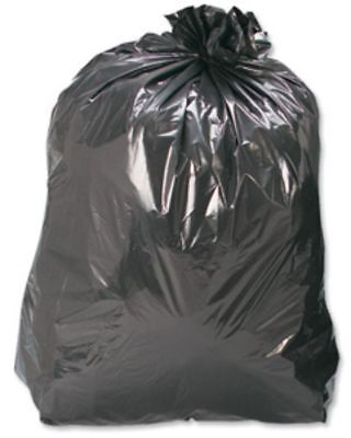 50 Black Refuse Sacks Bags Size 18x29x39