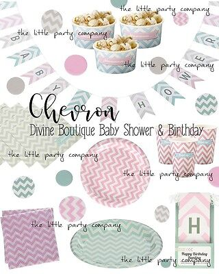 Chevron Party Supplies (Chevron Party Supplies Pastel Baby Shower Birthday Party Supplies Cups Plates Na)