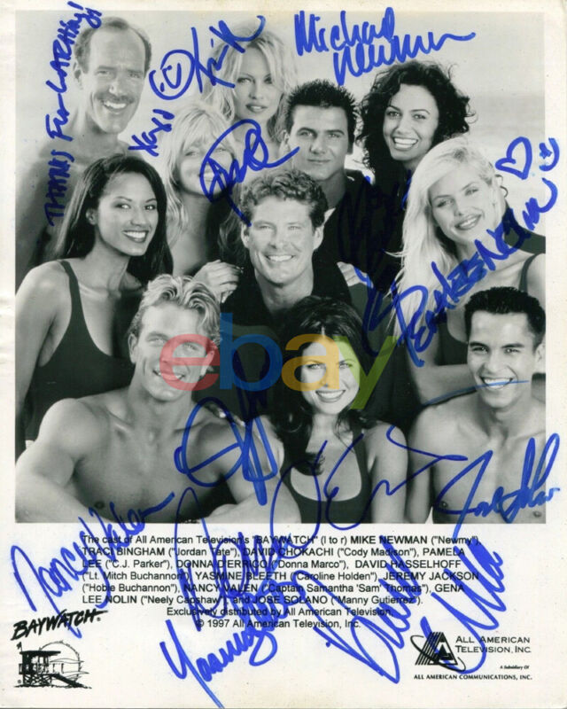 Baywatch Cast Signed 8x10 Autographed Photo reprint